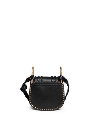 Back View - Click To Enlarge - Chloé - 'Hudson' mini stud braided leather bag
