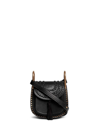 Main View - Click To Enlarge - Chloé - 'Hudson' mini stud braided leather bag