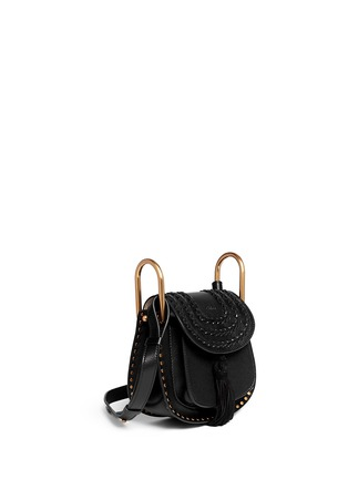 Figure View - Click To Enlarge - Chloé - 'Hudson' mini stud braided leather bag