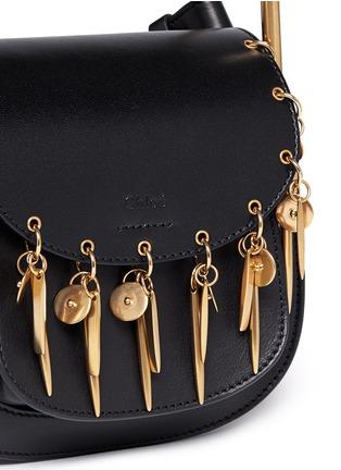 Detail View - Click To Enlarge - Chloé - 'Hudson' mini charm leather saddle bag