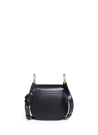 Back View - Click To Enlarge - Chloé - 'Hudson' mini charm leather saddle bag