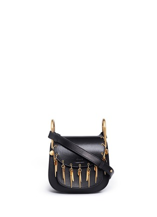 Main View - Click To Enlarge - Chloé - 'Hudson' mini charm leather saddle bag