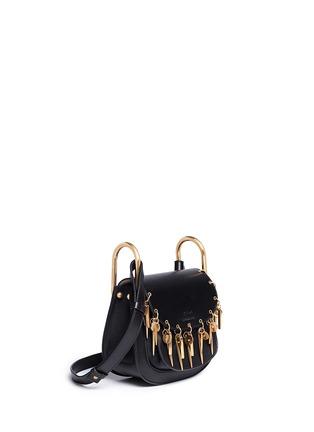 Figure View - Click To Enlarge - Chloé - 'Hudson' mini charm leather saddle bag