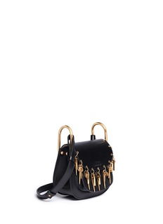 Chloé 'Hudson' mini charm leather saddle bag