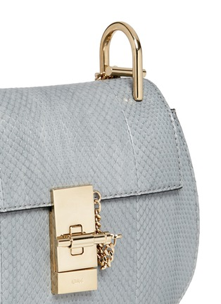 Detail View - Click To Enlarge - Chloé - 'Drew' mini snakeskin leather bag