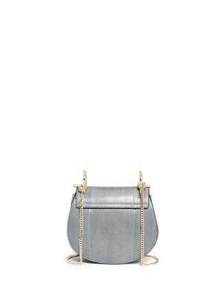 Back View - Click To Enlarge - Chloé - 'Drew' mini snakeskin leather bag