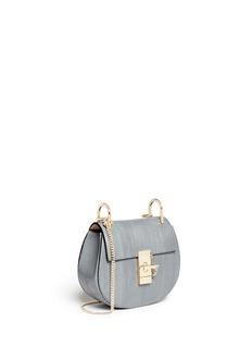 CHLOÉ'Drew' mini snakeskin leather bag