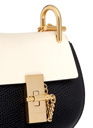 Detail View - Click To Enlarge - Chloé - 'Drew' nano colourblock grainy leather shoulder bag