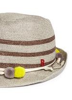 'AIX' pompom seashell cordon stripe Panama hat