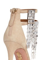 'My Desire' jewelled fringe suede sandals