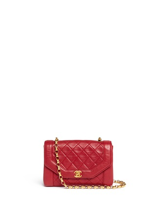 Main View - Click To Enlarge - Vintage Chanel - Quilted leather shoulder bag