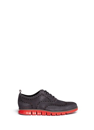 首图 - 点击放大 -  - 'ZeroGrand No Stitch' suede Oxfords