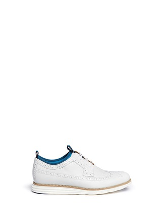 Main View - Click To Enlarge -  - 'LunarGrand' neoprene leather Derbies