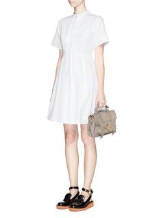 PROENZA SCHOULERPleat placket cotton piqué dress