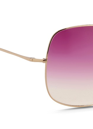 Detail View - Click To Enlarge - Matthew Williamson - x Linda Farrow stainless steel oversize square sunglasses