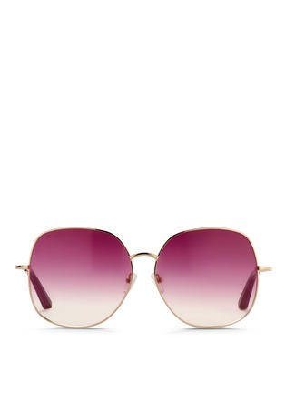 Main View - Click To Enlarge - Matthew Williamson - x Linda Farrow stainless steel oversize square sunglasses