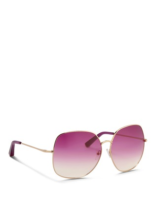 Figure View - Click To Enlarge - Matthew Williamson - x Linda Farrow stainless steel oversize square sunglasses