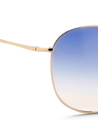 Detail View - Click To Enlarge - Matthew Williamson - x Linda Farrow stainless steel gradient aviator sunglasses