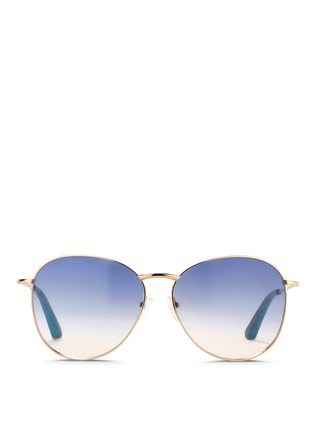 Main View - Click To Enlarge - Matthew Williamson - x Linda Farrow stainless steel gradient aviator sunglasses