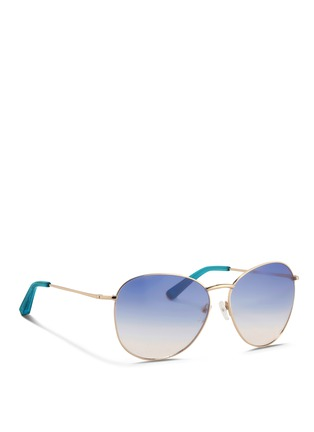 Figure View - Click To Enlarge - Matthew Williamson - x Linda Farrow stainless steel gradient aviator sunglasses