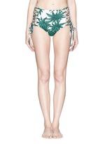 'Harvest' reversible lace up high waist bikini bottoms