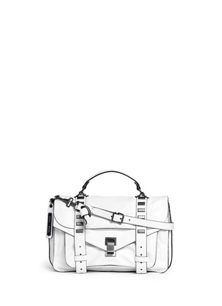 Main View - Click To Enlarge - Proenza Schouler - 'PS1' medium stud leather satchel