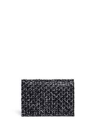 Back View - Click To Enlarge - Proenza Schouler - Interwoven leather small lunch bag