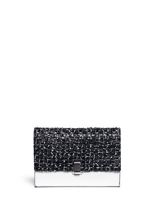 Main View - Click To Enlarge - Proenza Schouler - Interwoven leather small lunch bag