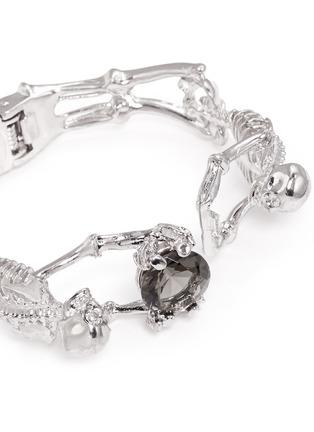 Detail View - Click To Enlarge - Alexander McQueen - Skeleton crystal bracelet
