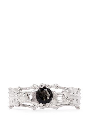 Front View - Click To Enlarge - Alexander McQueen - Skeleton crystal bracelet