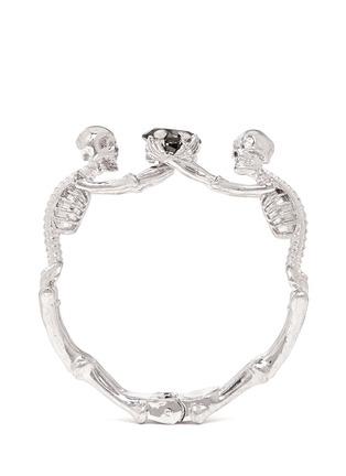 Main View - Click To Enlarge - Alexander McQueen - Skeleton crystal bracelet