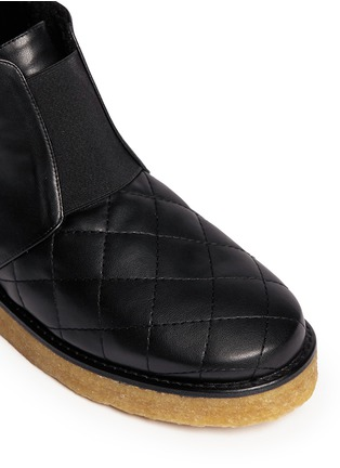 Detail View - Click To Enlarge - Stella McCartney - 'Brompton' quilted ankle boots