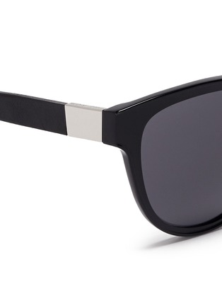Detail View - Click To Enlarge - The Row - x Linda Farrow leather temple cat eye sunglasses