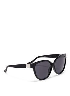 THE ROWx Linda Farrow leather temple cat-eye sunglasses