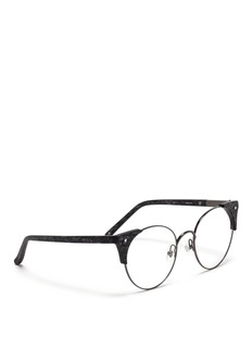 3.1 PHILLIP LIM x Linda Farrow acetate corner wire optical glasses