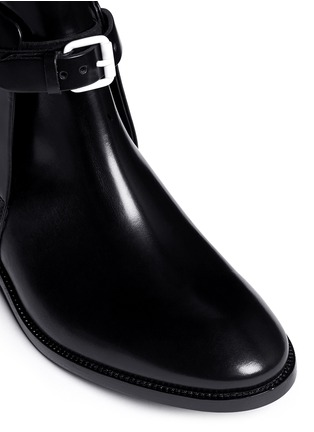Detail View - Click To Enlarge - Acne Studios - 'Allea' contrast grommet buckle leather boots