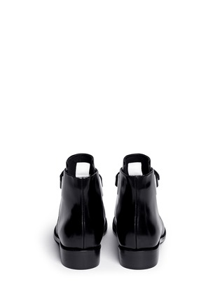 Back View - Click To Enlarge - Acne Studios - 'Allea' contrast grommet buckle leather boots