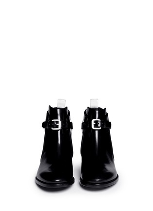 Figure View - Click To Enlarge - Acne Studios - 'Allea' contrast grommet buckle leather boots