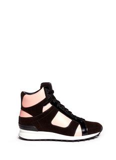 3.1 PHILLIP LIM'Trance' felt trim leather sneakers