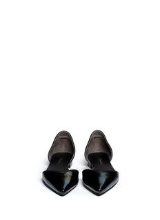 3.1 PHILLIP LIM'Devon' iridescent leather d'Orsay flats