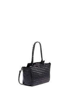 VALENTINO 'Rockstud Noir' mini leather tote