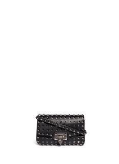 VALENTINO'Rockstud Noir' mini leather flap satchel