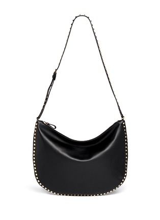 Detail View - Click To Enlarge - Valentino - 'Rockstud' leather hobo bag