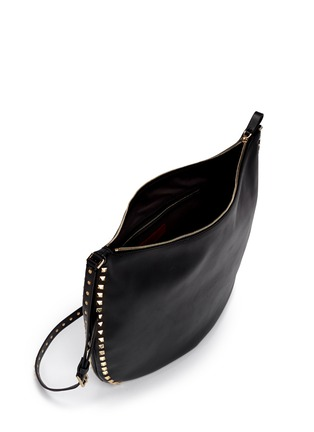 Front View - Click To Enlarge - Valentino - 'Rockstud' leather hobo bag