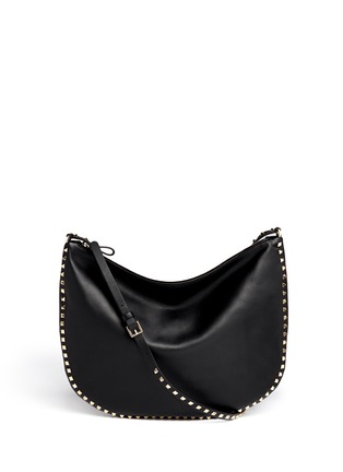 Main View - Click To Enlarge - Valentino - 'Rockstud' leather hobo bag