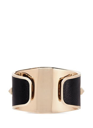 Back View - Click To Enlarge - Valentino - 'Rockstud' leather cuff