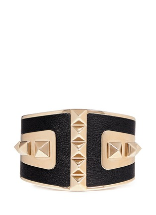 Main View - Click To Enlarge - Valentino - 'Rockstud' leather cuff