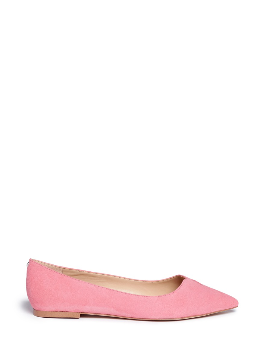 Ruby keyhole vamp suede skimmer flats by Sam Edelman