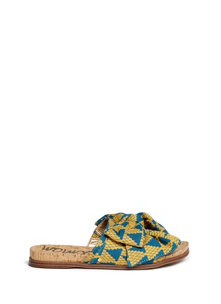 Sam Edelman Henna Woven Bow Cork Slide Sandals Lane