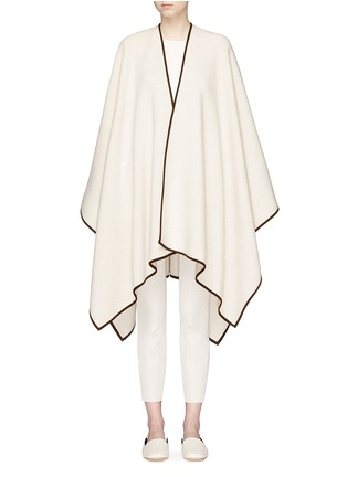 Main View - Click To Enlarge - The Row - 'Dusana' goatskin suede trim Merino wool-cashmere cape